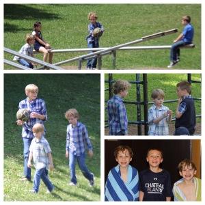 Tucker and Hudson on Playground